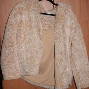 Oversized fuzzy teddy jacket urban outfitters L